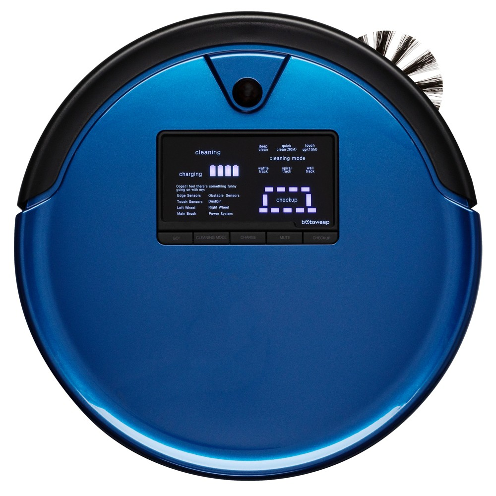 Image of bObsweep PetHair Plus Robotic Vacuum Cleaner and Mop - Blue