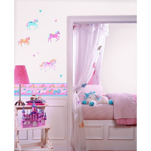 Fun4Walls Carousel Wall Stickers Set of 2 - Pink/Purple - image 1 of 1