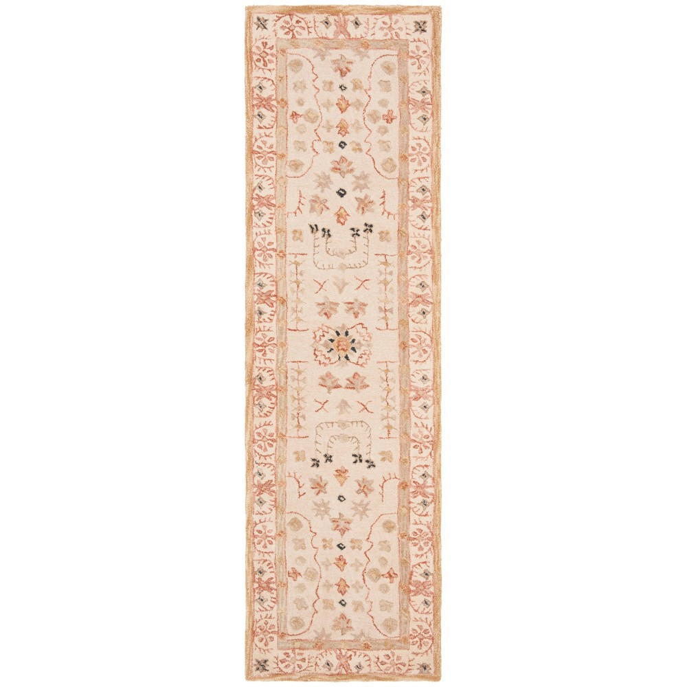 Sand (Brown) Floral Tufted Runner 2'3X10' - Safavieh