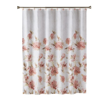 Misty Floral Shower Curtain Pink - Saturday Knight Ltd.