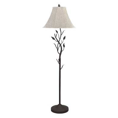 "64"" 3-way Metal Hand Forged Floor Lamp Black - Cal Lighting"