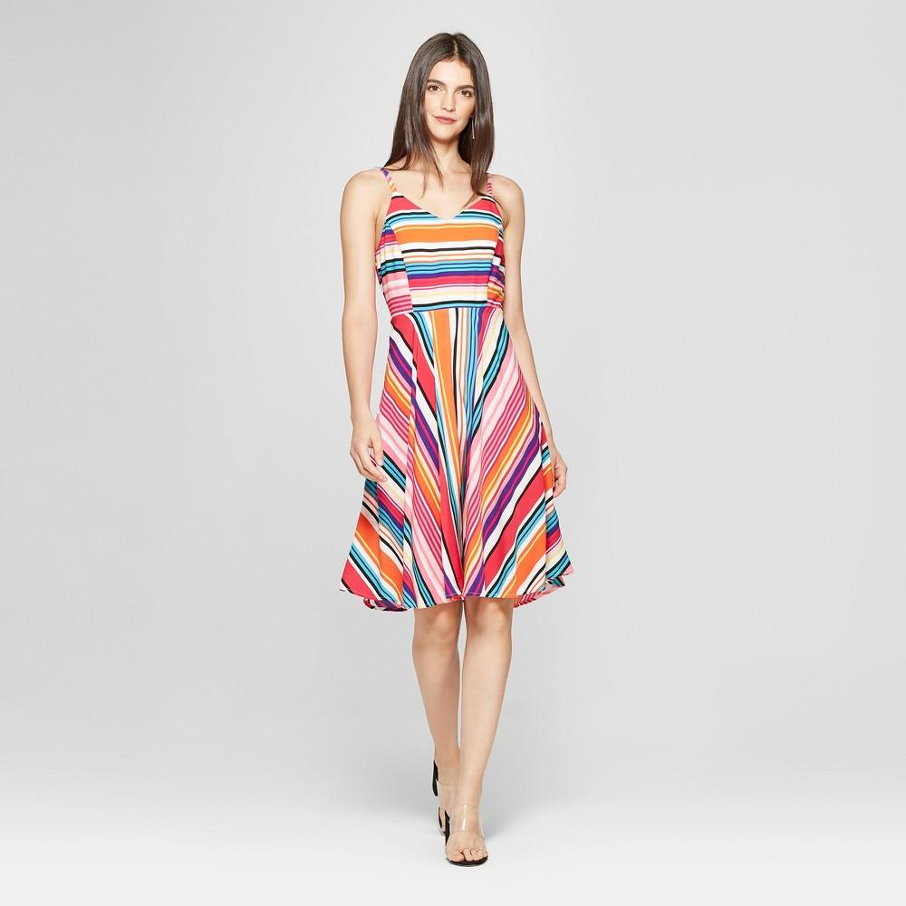 Women's Striped Print Sleeveless Dress - Spenser Jeremy 4, Multicolored