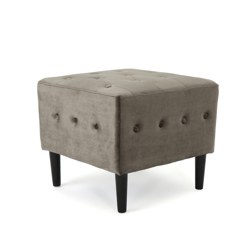 Esther Tufted Ottoman Gray - Christopher Knight Home
