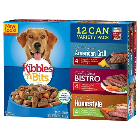 Kibbles 'n Bits American Grill Bistro & Homestyle (Variety Pack) - Wet Dog Food - 13.2oz cans / 12pk - image 1 of 1
