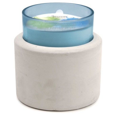 Glass and Concrete Container Candle Tea Leaf & Lavender 8oz - Vineyard Hill Naturals by Paddywax® - image 1 of 1