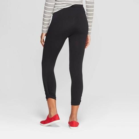 0afa3c51f6417 Women's High Waist Seamless Capri Leggings - Xhilaration™ Black S/M : Target