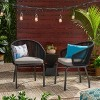 Boynton Set of 2 Rope Modern Club Chairs - Black/Gray - Christopher Knight Home - image 2 of 4