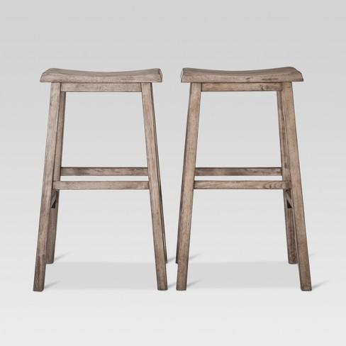 Astonishing Trenton 29 Barstool Gray Set Of 2 Threshold Dailytribune Chair Design For Home Dailytribuneorg