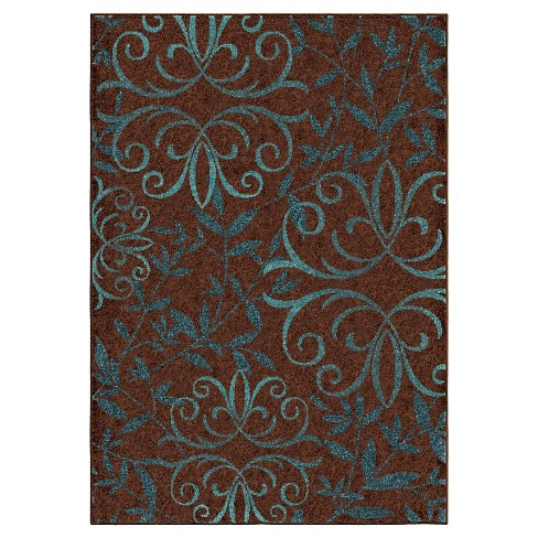 "Orian Rugs Voyager Promise Transitional Area Rug - Brown (5'2"" x 7'6"") - image 1 of 5"