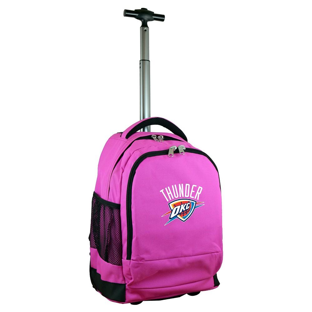 NBA Oklahoma City Thunder Mojo Premium Wheeled Backpack - Pink