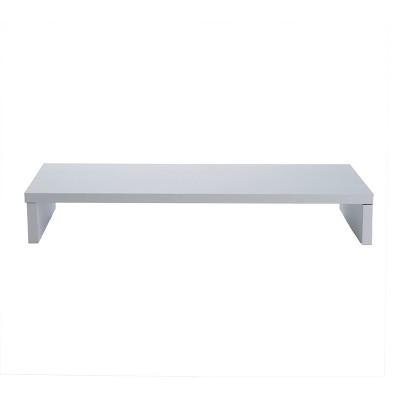 Mind Reader Wooden Monitor Stand Riser for PC, iMac White
