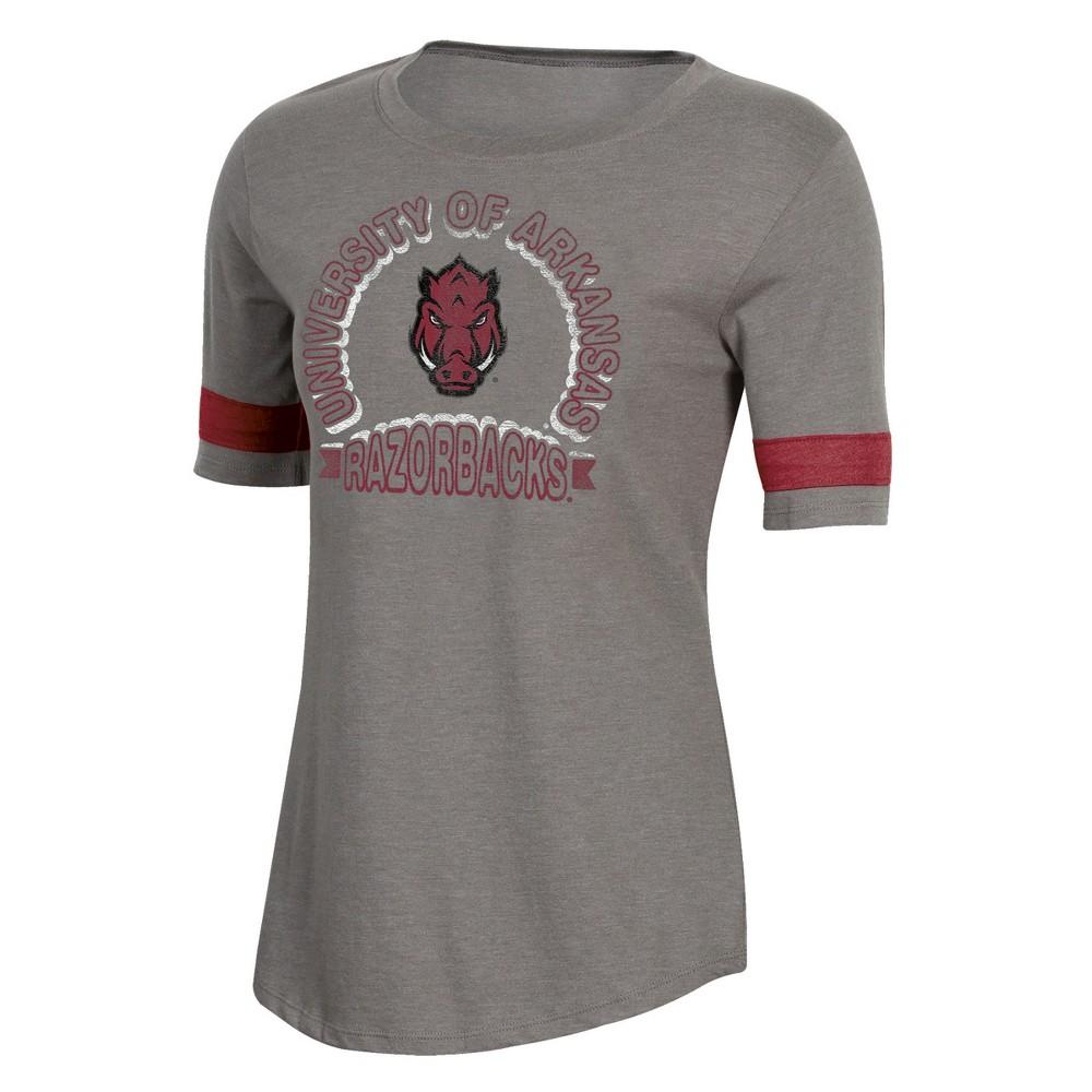NCAA Women's Short Sleeve Scoop Neck T-Shirt Arkansas Razorbacks - M, Multicolored