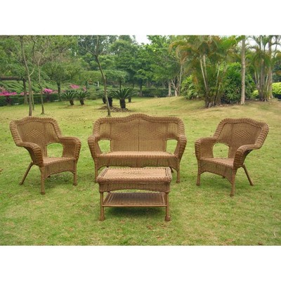 International Caravan Chelsea Wicker Patio Furniture Collection