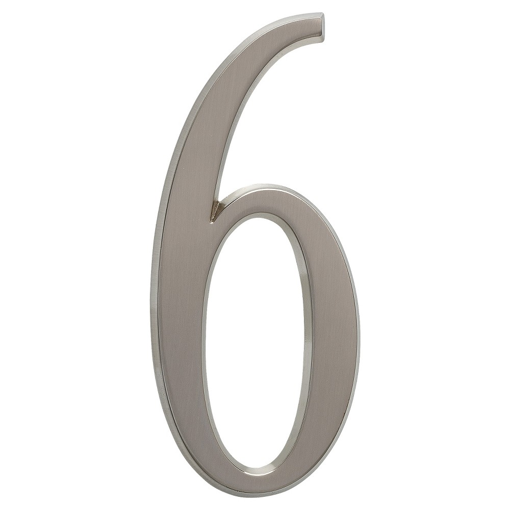 4.75 Number 6 - Brushed Nickel - Whitehall Products