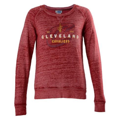 NBA Cleveland Cavaliers Women's Retro Logo Burnout Crew Neck Sweatshirt - image 1 of 2