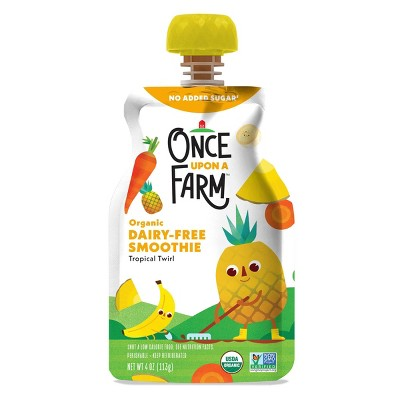 Once Upon a Farm Organic Dairy-Free Tropical Twirl Kids Smoothie - 4oz