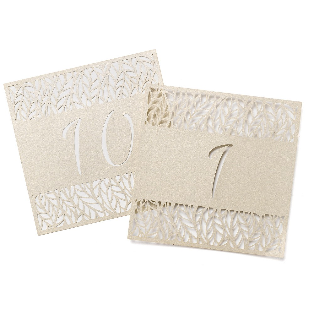 "Image of ""10ct """"1-10"""" Table Number Cards Gold"""
