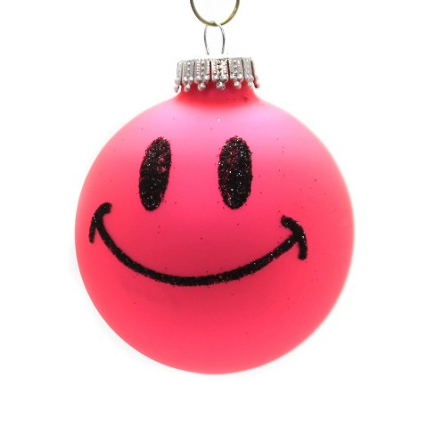 Holiday Ornaments Smiley Face Ornament Ball Happy  - - image 1 of 2