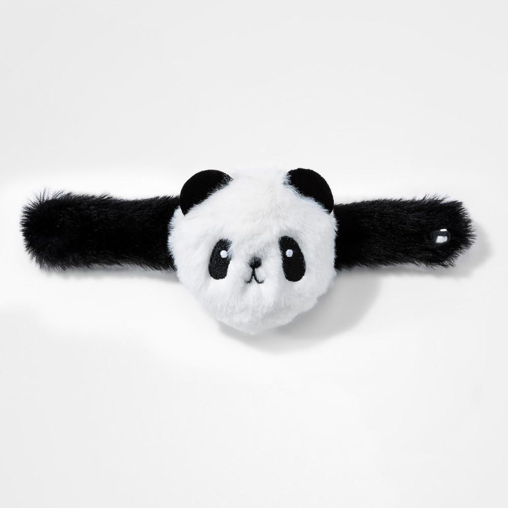 Girls' Faux Fur Panda Cuff Bracelet - Cat & Jack Black/White One Size