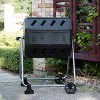 FCMP Outdoor IM4000-WK 37 Gal Dual Chamber Quick Curing Tumbling Composter Bin - image 3 of 4