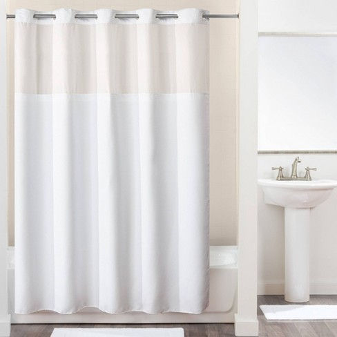 Montage Chevron Shower Curtain With
