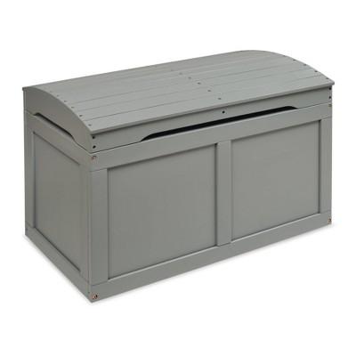 Hardwood Barrel Top Toy Chest Gray - Badger Basket