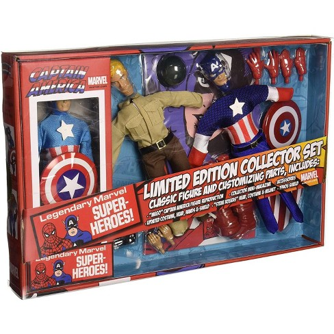 Diamond Select Marvel Captain America 8 Inch Retro Action Figure Set - image 1 of 3