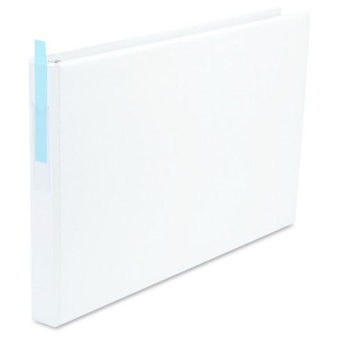 "Universal® Legal-Size Round Ring Binder with Label Holder, 1"" Capacity, 11 x 17, White - image 1 of 3"