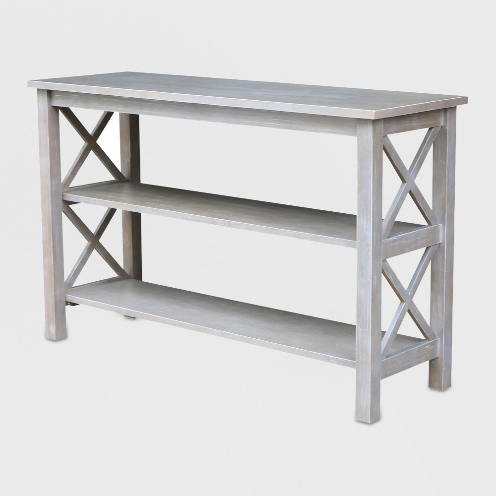 Hampton Console Table Washed Gray Taupe - International Concepts