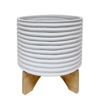 Textured Planter with Stand - Sagebrook Home