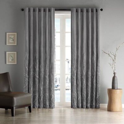 Aden Curtain Panel Charcoal (50 x84 )