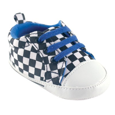 Luvable Friends Baby Boy Crib Shoes, Checkered