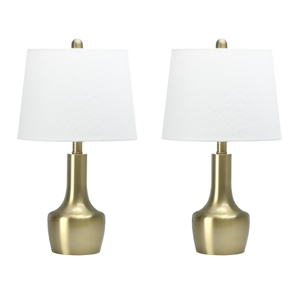Set Of 2 22 34 Urn Shaped Table Lamps Brass 3r Studios