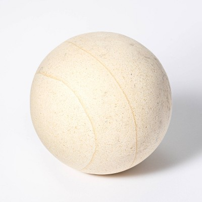 "4"" Decorative Stone Wood Ball Natural - Threshold™ designed with Studio McGee"