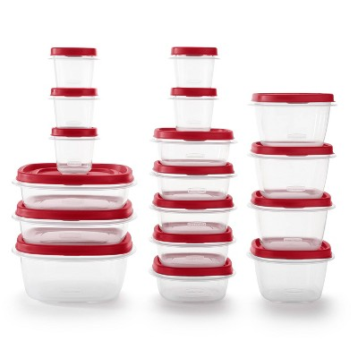 Rubbermaid 34pc Plastic Food Storage Container Set