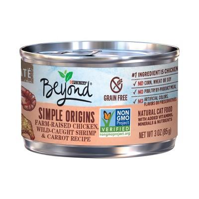 Beyond Simple Origins Free Range Chicken Wild Caught Shrimp & Carrot Wet Cat Food 3oz
