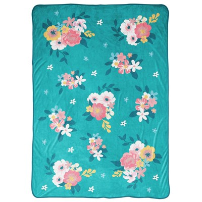 "62""x90"" To All the Boys I've Loved Before Laura Floral Blanket"