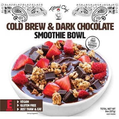 Tattooed Chef Frozen Cold Brew & Dark Chocolate Smoothie Bowl - 8oz