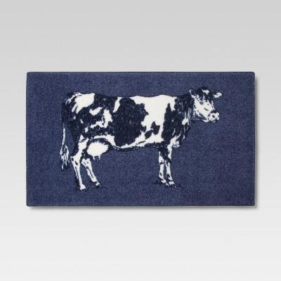 Medium Blue Cow Rugs 1'8 X2'10  - Threshold™