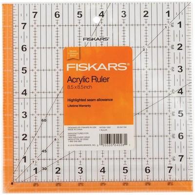 "Fiskars Square Acrylic Ruler-8-1/2""X8-1/2"""