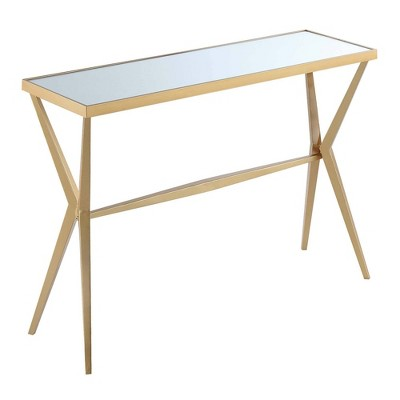 Saturn  Console Table Mirror/Gold - Breighton Home