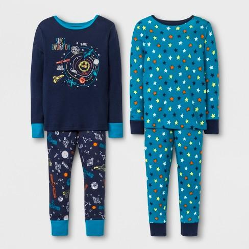 9c7ed43328415 Toddler Boys  Space 4pc Pajama Set - Cat   Jack™ Navy   Target