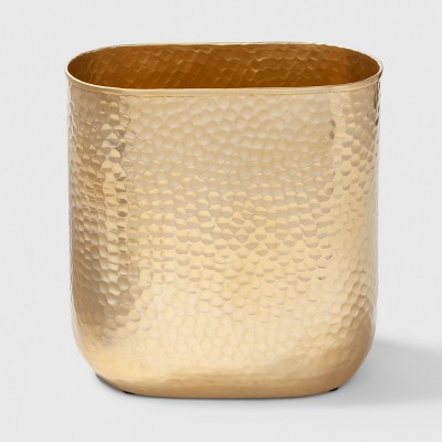 Metal Bathroom Wastebasket Gold - Project 62™