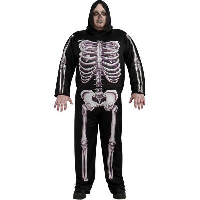 Adult Skeleton Halloween Costume XXL (50-52)