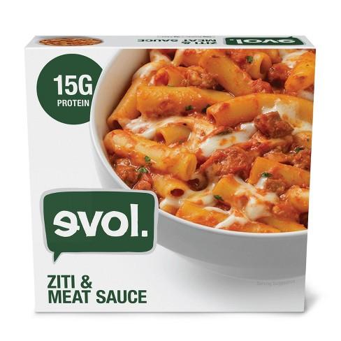 Evol Frozen Ziti & Meat Sauce Frozen Pasta Bowl - 9oz - image 1 of 3