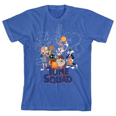 Tune Squad Youth Boys Blue Space Jam 2 Graphic Tee Shirt