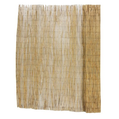 6' x 16' Unpeeled Reed Fence Natural - Gardenpath