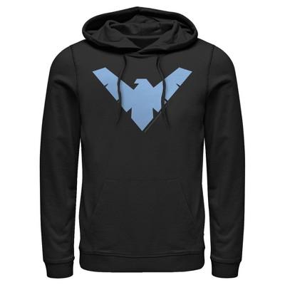 Men's Batman Nightwing Logo Pull Over Hoodie