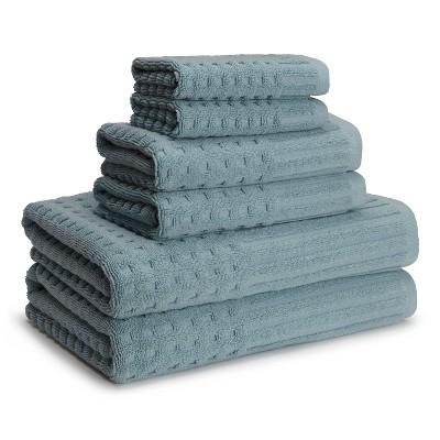 Spa Towels Slate Blue Set of 6 - Kassatex