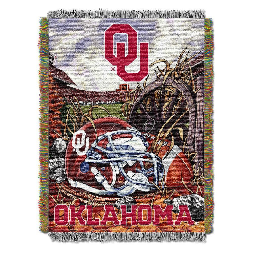 Oklahoma Sooners Home Field Advantage College Throw Blanket